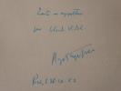 Billet autographe signé.. PEYREFITTE Roger