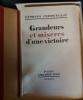 Grandeurs et Misères d une Victoire Georges Clémenceau  Edité par Plon 1930. Georges clemenceau