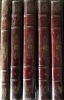 Oeuvres complètes de P.J. de Béranger, édition unique revue par l'auteur, ornée de vignettes en taille-douce dessinées par les peintres les plus ...