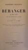 Dernières chansons de Béranger de 1834 à 1851 avec une préface de l'auteur illustrées de 14 dessins de A. De Lemud gravés sur acier par MM.Balin, ...