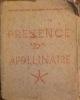 presence apollinaire. galerie Breteau