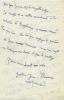Lettre autographe signée à un ami.. CHAISSAC (Gaston)