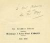 Les Feuilles Libres n°45 - 46 Hommage à Léon-Paul Fargue. FARGUE (Léon-Paul)