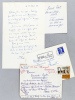 """2 Lettres autographes signées du poète Paul Fort  [adressée à l'écrivain et érudit bordelais Armand Got] : """"Cancer à la gorge que l'on refoule grâce ..."""