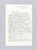 """Lettre autographe signée datée du 23 juillet 1954 [adressée à l'écrivain et érudit bordelais Armand Got] : """"Le Chant matinal de Camille Lecrique ..."""