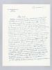 """Lettre autographe signée datée du 14 mars 1955 [ adressée à l'écrivain et érudit bordelais Armand Got ] : """"Et puis j'ai eu les répétitions de La ..."""