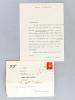 """Lettre signée datée du 8 décembre 1941 [adressée à la journaliste et écrivain bordelaise Luce Doll ] : """"Oui, c'est bien P. L. Couchoud avec son Fil de ..."""