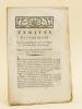 Vérités Historiques sur les Evénemens arrivés à Nismes le 13 de Juin & les jours suivans. Publiées par le Club des Amis de la Constitution, en Juillet ...