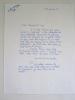 1 Lettre autographe signée du poète et émailleur bordelais Raymond Mirande.. MIRANDE, Raymond