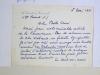 Lettre autographe signée de l'écrivain George-Day. GEORGE-DAY ; [DEBEAUVAIS, Yvonne ]