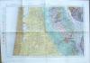Bordeaux. Carte géologique détaillée. Carte Topographique de l'Etat-Major à l'échelle 1 / 80 000e.. Carte de Bordeaux