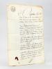 Copie d'un Jugement rendu vers 1811 par le Tribunal Civil de Première Instance de l'arrondissement d'Oloron. Affaire entre le Sieur Jean Pierre ...