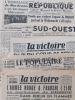 La Victoire du Sud-Ouest [ Lot de 5 numéros de 1945 ] N° 192 : 24 avril 1945 (L'armée rouge a franchi l'Elbe) et n° 196 : 27 avril 1945 (En plein ...