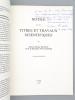 Notice sur les Titres et Travaux Scientifiques du Docteur Etienne Baulieu. [ Livre dédicacé par l'auteur ]. BAULIEU, Docteur Etienne