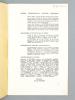 Courrier du Centre International d'Etudes Poétiques.  Géographie de Char : alternance Visage Nuptial / Masque Funèbre. [ Livre dédicacé par l'auteur ...