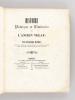 Histoire Poétique et Littéraire de l'Ancien Velay.  [ édition originale ]. MANDET, Franciscque