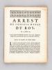 Arrest du Conseil d'Etat du Roy, du 7 Juillet 1711, par lequel Sa Majesté acorde trois cent cinquante mille livres aux Diocèses qui ont perdu leurs ...