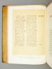 Histoire Générale de Paris. Les Métiers et Corporations de la Ville de Paris. XIIIe siècle. Le Livres des Métiers d'Etienne Boileau. BOILEAU, Etienne ...