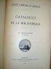 Catalogue de la Bibliothèque - Catalogue des Publications de la Société Linnéenne de Bordeaux. Actes et Procès-Verbaux (2 fascicules - Complet pour ...