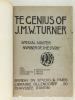 """The Genius of J. M. W. Turner. Special winter number of """"The Studio"""".. HOLME, Charles"""