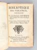 Bibliotèque des Théatres, contenant le Catalogue Alphabétique des Pièces dramatiques, Opéra, Parodies, & Opéra comiques ; & le tems de leurs ...