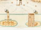 Travaux Hydrauliques Maritimes. Construction du Bassin Napoléon à Marseille. Chromolithographie : Planche XVIII : Exploitation des Blocs Naturels. ...