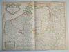 Carte des Pays Bas Catholiques dressée sur un grand nombre de cartes particulières faites sur les lieux où les limites sont exactement marquées, ...