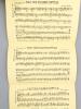 12 partitions en feuillets pliés en trois - Organisation Ray Binder : La Vie c'est une histoire d'amour - Les Musiciens - De Toi ; Julien ; Main dans ...