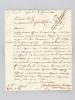 L.A.S. de recommandation datée du 5 février 1811, du Sénateur Dupuy à Monsieur le Général Fririon en faveur d'un chasseur à cheval de la Garde ...