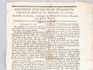 Nouvelles Officielles de Strasbourg, contenant des détails sur les mouvemens des ennemis. Nouvelles de Nantes, contenant les Adieux des fédérés ...