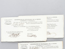 Bon pour une livre de viande. [ 5 Bons nominatifs délivrés, durant la Révolution, par l'administration du département de la Gironde pour la délivrance ...