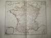 """Départemens des Commissaires et des Trésoriers des Guerres [ Carte extraite de l'atlas """"La France considérée sous tous les principaux points de vue ..."""