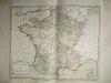 """Départemens des Secrétaires d'Etat [ Belle carte en coloris d'époque, extraite de l'atlas """"La France considérée sous tous les principaux points de vue ..."""