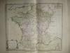 Départemens des Intendans du Commerce avec les principales places de Commerce et de Manufactures [ Belle carte en coloris d'époque, extraite de ...