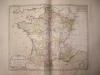 """Les 34 Généralités avec leurs Chefs-lieux et Résidences des Intendans [ Belle carte en coloris d'époque, extraite de l'atlas """"La France considérée ..."""