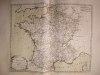 """Provinces des cinq grosses Fermes et Provinces réputées étrangères [ Belle carte en coloris d'époque, extraite de l'atlas """"La France considérée sous ..."""