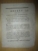 Décret de la Convention Nationale du 22 avril 1793, l'an second de la République Française, Qui ordonne aux Généraux en chef de faire une Revue ...