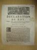 Déclaration du Roy, portant reglement sur les fonctions des Banquiers-Expéditionnaires en Cour de Rome, donnée à Paris le 3 Août 1718. Registrée en ...