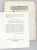 Décret de la Convention Nationale, du 23e jour de Pluviôse, an second de la République Française, Relatif à l'incorporation des Citoyens de la ...