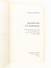 Introduction à l'archéologie. [ exemplaire dédicacé par l'auteur ]. MOBERG, Carl-Axel