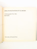 Organogenesis of Flowers. A photographic text-atlas. [ signed copy ]. SATTLER, Rolf