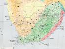 Afrique du Sud. Carte économique de l'Afrique du Sud, au format 990 x 680 mm . Présidence du Conseil