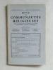 """Museum Lessianum. Section Théologique. Revue des Communautés Religieuses. [ Devient : ] Vie Consacrée. De 1954 à 2003 (50 Années suivies de la """"Revue ..."""