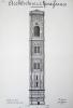 Architecture de la Renaissance. Campanile de Florence construit par Giotto [ Beau lavis original ]. BONNET, J.
