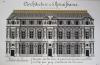 Architecture de la Renaissance. Palais du Louvre. Façade sur la Cour d'après une gravure publiée en 1576 par Jacq. Androuet du Cerceau [ Beau lavis ...