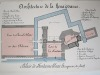 Architecture de la Renaissance. Palais de Fontainebleau (Fragment du Plan) [ Beau lavis original - Château de Fontainebleau ]. BONNET, J.