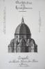Architecture de la Renaissance. Coupole de Sainte-Marie-des-Fleurs à Florence [ Beau lavis original ] On joint : Plan de Sainte-Marie-des-Fleurs [ ...