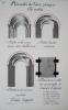 Architecture Romane. [Lot de 7 beaux lavis originaux ] Façade du XIe siècle - Eléments de l'art roman. Les voûtes - Portes et Fenêtres romanes - ...