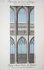 Architecture Gothique. [ Lot de 10 beaux lavis originaux ] Eléments de l'art gothique. Fenêtre à lancette. Triforium et clérestory de Notre-Dame ...