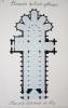 Eléments de l'art gothique. Plan de la Cathédrale de Séez [ Beau lavis original ] . BONNET, J.